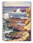 Sharp Rocky Coastline Spiral Notebook