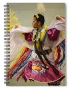 Pow Wow Shawl Dancer 4 Spiral Notebook