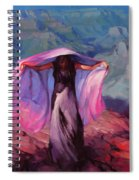 She Danced By The Light Of The Moon Spiral Notebook