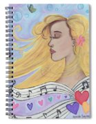 She Dreams In Music Spiral Notebook