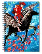 She Flies With The West Wind Spiral Notebook