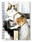 She Has Got The Look - Cat Portrait Spiral Notebook