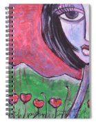 She Loved The Poppies Spiral Notebook