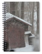Shed Thru Glass And Snow Spiral Notebook
