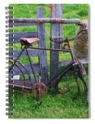 Sheep And Bicycle Spiral Notebook