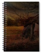 Sheep And Shed Spiral Notebook