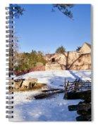 Sheep Farm In Winter Spiral Notebook