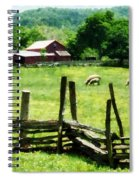 Sheep Grazing In Pasture Spiral Notebook
