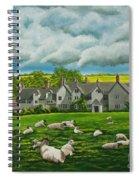 Sheep In Repose Spiral Notebook