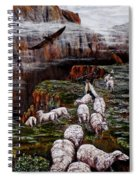 Sheep In The Mountains  Spiral Notebook