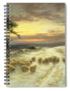 Sheep In The Snow Spiral Notebook
