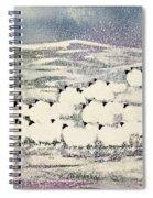 Sheep In Winter Spiral Notebook