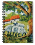 Sheep On The Farm Spiral Notebook