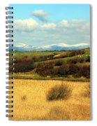 Sheep On The Hillside Spiral Notebook