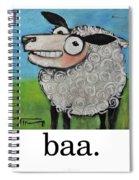 Sheep Poster Spiral Notebook