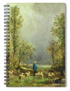 Sheep Watching A Storm Spiral Notebook
