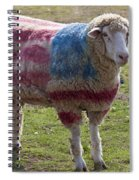 Sheep With American Flag Spiral Notebook