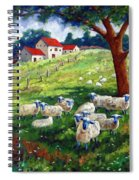 Sheeps In A Field Spiral Notebook