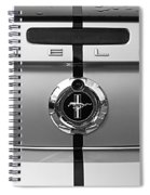 Shelby Ford Mustang Trunk Lid And Badge In Black And White Spiral Notebook