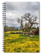 Shell Creek Awash In Yellow Spiral Notebook