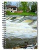 Shell Rock Iowa Dam 2 Spiral Notebook