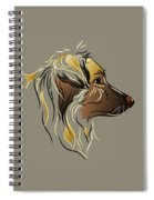 Shepherd Dog In Profile Spiral Notebook