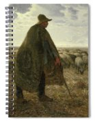 Shepherd Tending His Flock Spiral Notebook