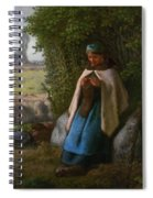 Shepherdess Seated On A Rock Spiral Notebook