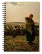 Shepherdess With Her Flock Spiral Notebook