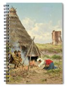 Shepherds Resting In The Roman Campagna Spiral Notebook