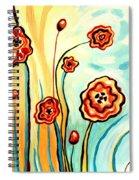 Sherbert And Powder Blue Skies Spiral Notebook
