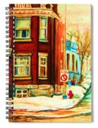 Sherbrooke In Winter Spiral Notebook