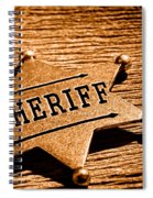 Sheriff Badge - Sepia Spiral Notebook