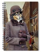 Shetland Sheepdog Art Canvas Print - Charleston Blue Spiral Notebook