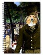 Shetland Sheepdog Art Canvas Print - Music In The Tuileries Gardens Spiral Notebook