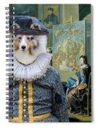 Shetland Sheepdog Art Canvas Print - The Painter And His Studio Spiral Notebook