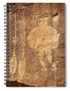 Shield Figure With Weapons Petroglyph Spiral Notebook