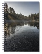 Shimmer Of Rays Spiral Notebook