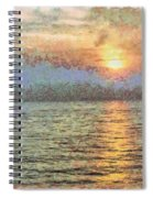 Shimmering Light Over The Water Spiral Notebook