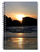 Shimmering Sands Sunset Spiral Notebook