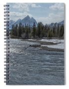Shimmering Snake River And The Tetons Spiral Notebook