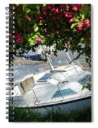 Shindilla Framed With Flowers Spiral Notebook