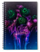 Shining Flowers  Spiral Notebook