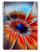 Shining Red Flower Spiral Notebook