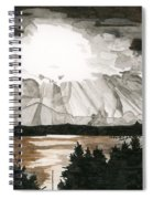 Shining Through The Storm Spiral Notebook