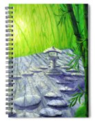 Shinto Lantern In Bamboo Forest Spiral Notebook