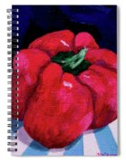 Shiny Red Spiral Notebook