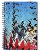 Ship At The Mooring Abstract Spiral Notebook