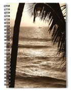 Ship In Sunset Spiral Notebook