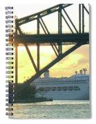 Ship Under Sydney Harbour Bridge Spiral Notebook